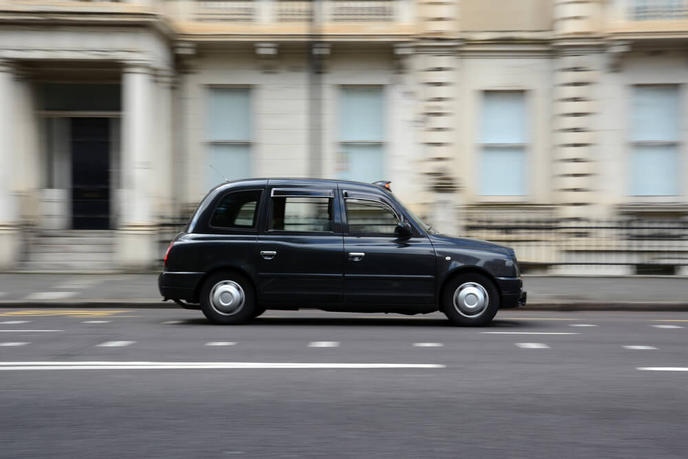 Black London Taxi Cab